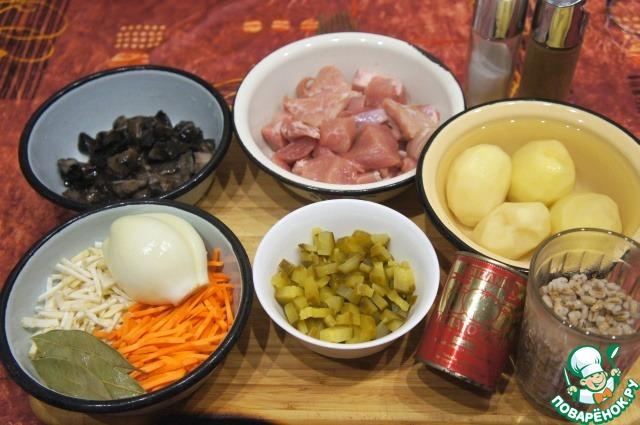 """Как готовить Рассольник со свининой """"Панский"""" простой рецепт приготовления с фото #1"""