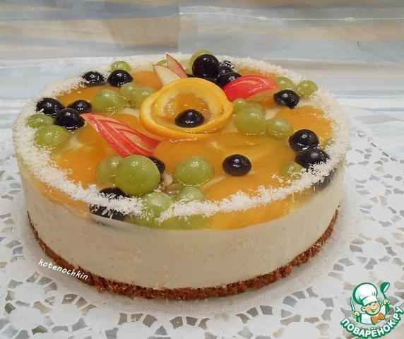 Творожно желейний торт без випечки