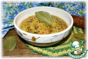 Рецепт Суп тыквенный с фаршем и кунжутом