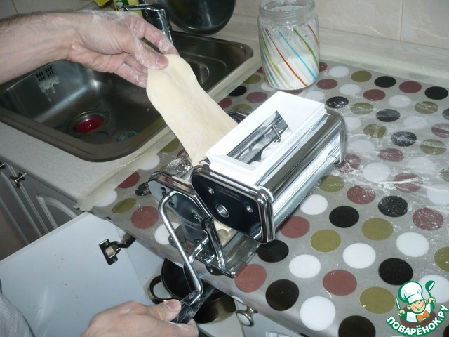 """Лапша """"Домашняя"""" рецепт приготовления с фото пошагово #9"""