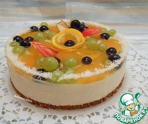 Рецепт Творожно-желейный торт с фруктами