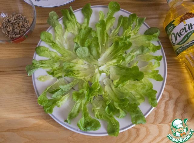 """Салат """"Необычный подсолнух"""" пошаговый рецепт приготовления с фото как готовить #2"""