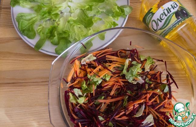 """Салат """"Необычный подсолнух"""" пошаговый рецепт приготовления с фото как готовить #3"""