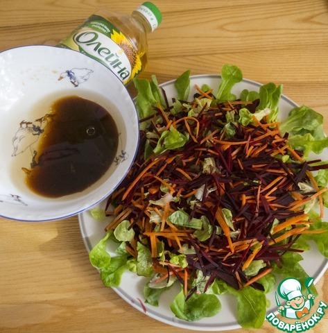 """Салат """"Необычный подсолнух"""" пошаговый рецепт приготовления с фото как готовить #5"""