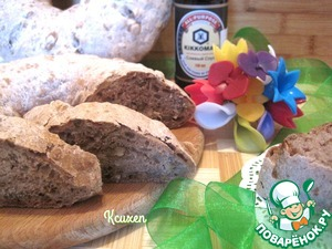 Рецепт Хлеб цельнозерновой с грецкими орехами