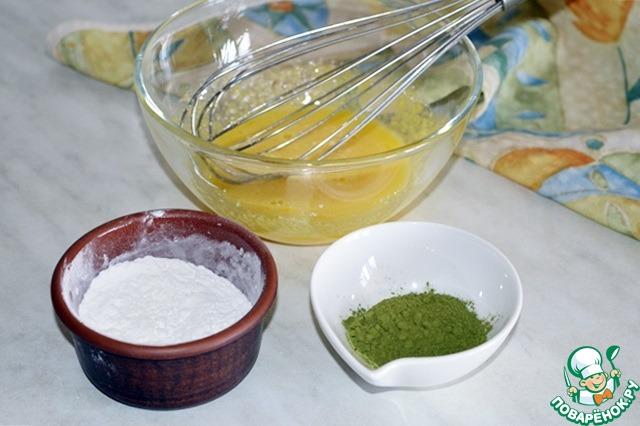 Как готовить вкусный рецепт приготовления с фотографиями Милфей с чаем матча и клубникой #7