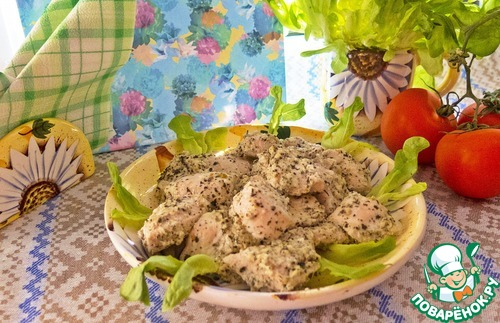 Как приготовить Курица в кефире с базиликом домашний рецепт с фотографиями #7