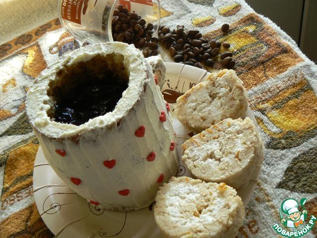 Готовим вкусный рецепт приготовления с фотографиями Чашечка кофе с рулетом #16