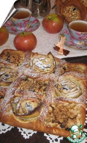 """Рецепт Дрожжевой яблочный пирог """"Файв'о'клок"""""""
