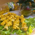 Шашлычки из филе трески с соусом