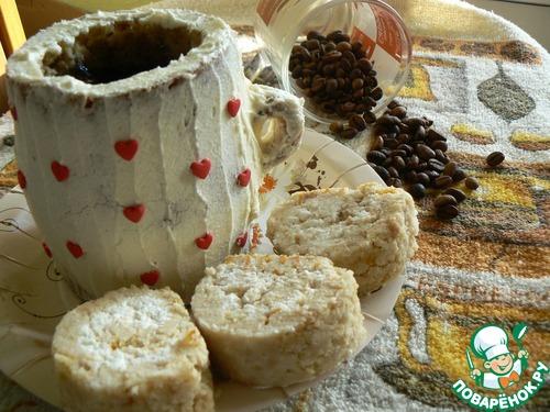 Готовим вкусный рецепт приготовления с фотографиями Чашечка кофе с рулетом #17