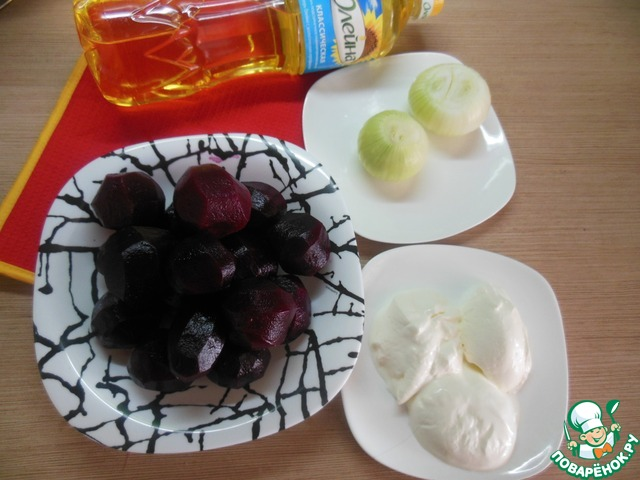 Как готовить Свёкла в сметанном соусе вкусный рецепт приготовления с фото #1