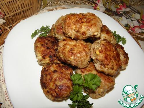 Мясные котлеты с сыром и яйцом рецепт приготовления с фото пошагово #10
