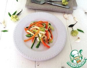 """Рецепт Салат из свежих овощей """"Весенняя легкость"""""""
