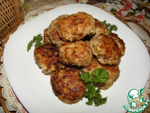Мясные котлеты с сыром и яйцом рецепт приготовления с фото пошагово #11