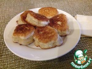 Рецепт Дрожжевые оладьи без молока и яиц