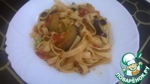 Паста с баклажанами и помидорами простой рецепт приготовления с фотографиями готовим