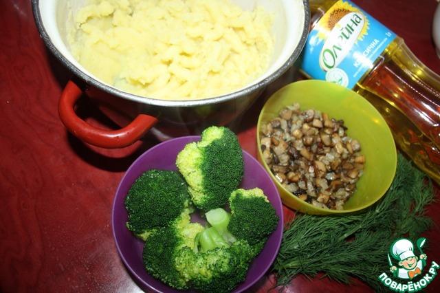 """Готовим """"Эскимо"""" с брокколи и грибами домашний пошаговый рецепт приготовления с фото #2"""