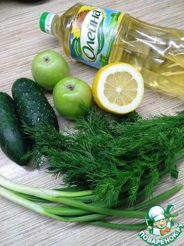 Простой зеленый салат простой рецепт приготовления с фото готовим #1