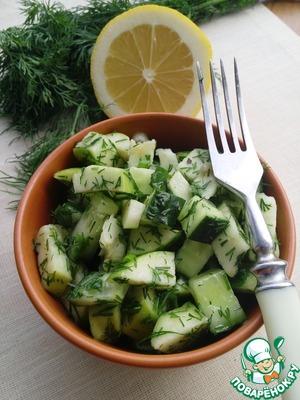 Простой зеленый салат простой рецепт приготовления с фото готовим