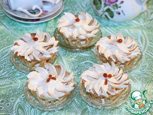 Как приготовить простой рецепт с фото Ванильные корзиночки с карамельным кремом #14