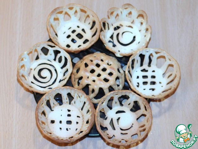 Как приготовить простой рецепт с фото Ванильные корзиночки с карамельным кремом #9