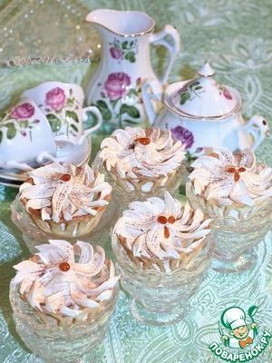 Рецепт Ванильные корзиночки с карамельным кремом