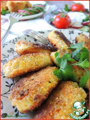 Рецепт Рыбные котлеты в ореховой панировке