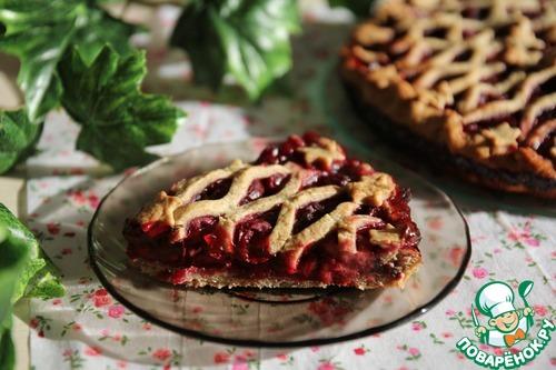 Легкий пирог с ягодами рецепт с фото