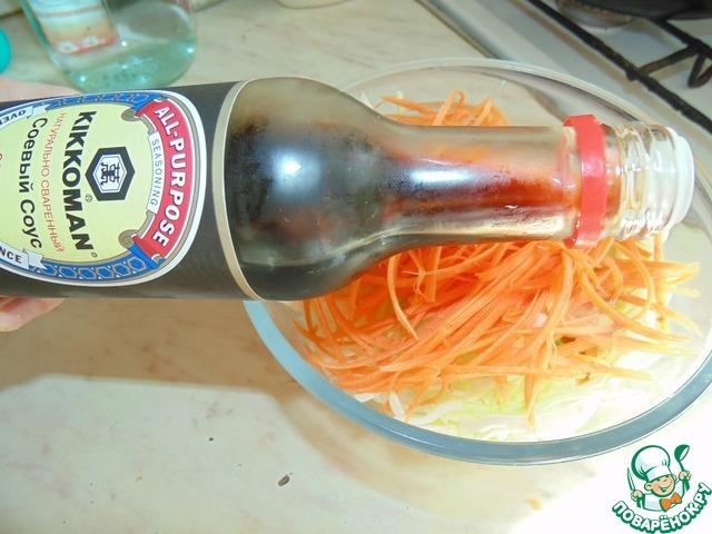 """Острый капустный салат """"А-ля Юность"""" простой рецепт приготовления с фотографиями готовим #3"""