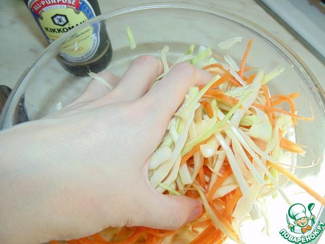 """Острый капустный салат """"А-ля Юность"""" простой рецепт приготовления с фотографиями готовим #4"""