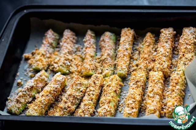 Запеченные кабачки в сырной панировке вкусный пошаговый рецепт с фотографиями как готовить #5