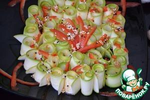 Рецепт Легкая закуска-салат из кабачков цукини