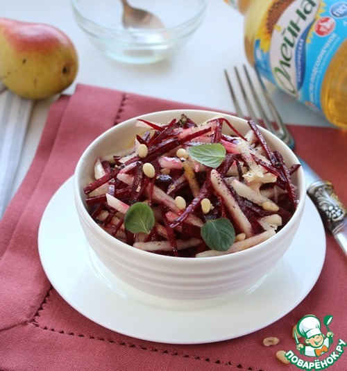 Салат из свёклы с грушей рецепт приготовления с фото пошагово #8