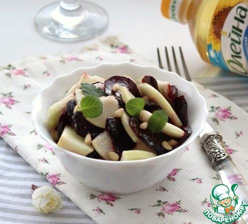 Салат из свёклы с грушей рецепт приготовления с фото пошагово #6