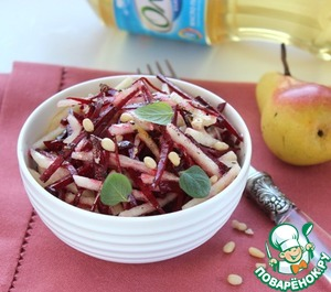 Салат из свёклы с грушей рецепт приготовления с фото пошагово