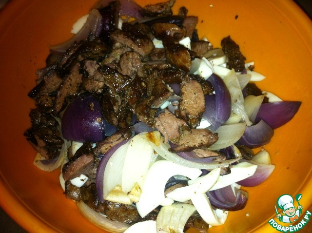 """Как готовить Салат легкий """"Голодуха"""" домашний рецепт с фото #6"""
