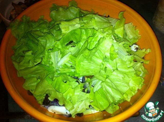 """Как готовить Салат легкий """"Голодуха"""" домашний рецепт с фото #8"""