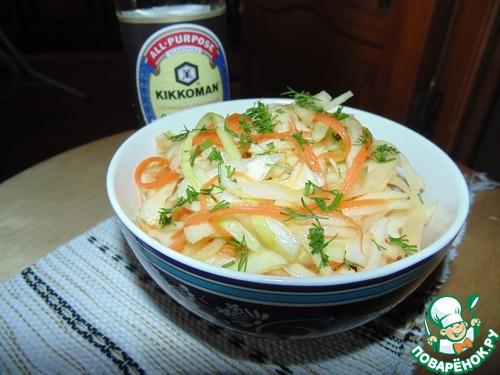 """Острый капустный салат """"А-ля Юность"""" простой рецепт приготовления с фотографиями готовим #9"""
