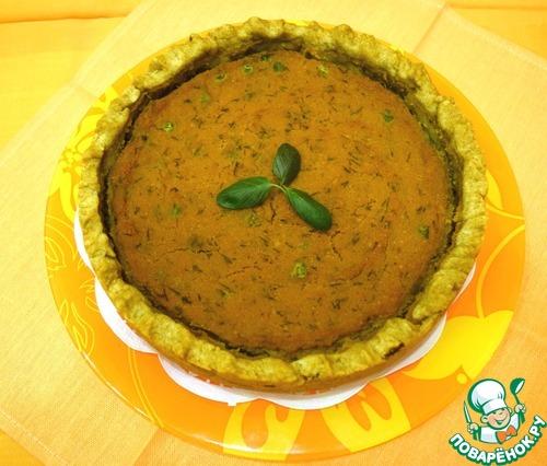 Готовим Постный тыквенный тарт с зеленым горошком вкусный рецепт приготовления с фото пошагово #10