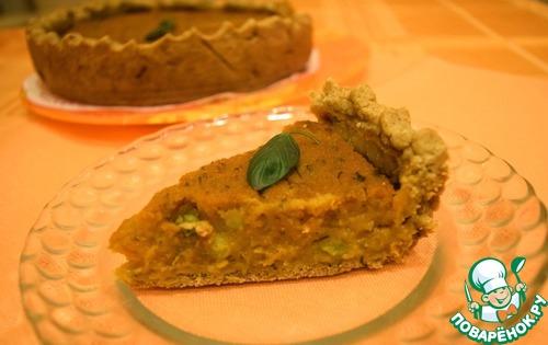 Готовим Постный тыквенный тарт с зеленым горошком вкусный рецепт приготовления с фото пошагово #11