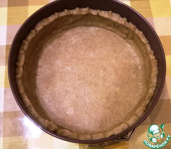 Готовим Постный тыквенный тарт с зеленым горошком вкусный рецепт приготовления с фото пошагово #8
