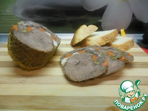 Рецепт Диетический рулет из говядины