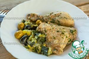 Цыплёнок в белом вине с цуккини простой пошаговый рецепт приготовления с фото