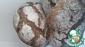 Рецепт Порционный ржаной заварной хлеб на закваске