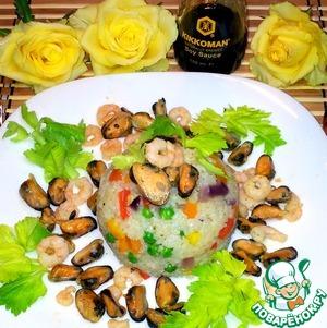 Рис с морепродуктами рецепт с фото пошагово как готовить