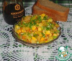 Рецепт Рыбно-овощной салат