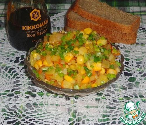 Как приготовить Рыбно-овощной салат вкусный рецепт с фото #5