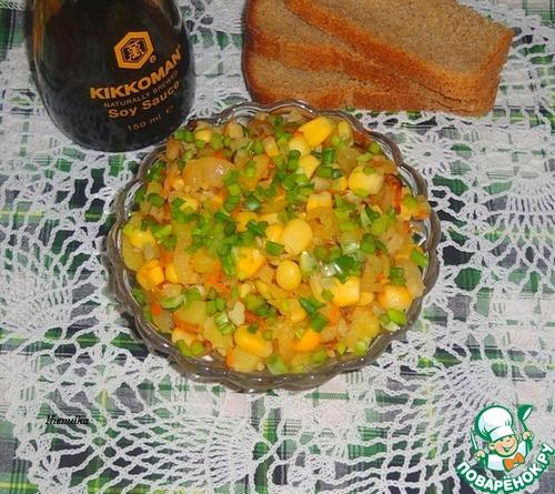 Как приготовить Рыбно-овощной салат вкусный рецепт с фото #6