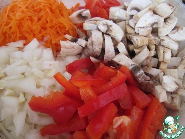 Готовим рецепт с фото Баклажаны с овощной начинкой #8